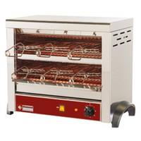 elektromos 2 szintes toaster, 6 db sütőrostéllyal