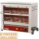 elektromos 2 szintes toaster, 6 db csipeszes sütőrostéllyal