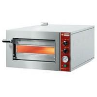elektromos 1 aknás pizzasütő kemence, max. 420 mm-es pizzához