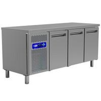 405 literes hűtött munkaasztal, 3 ajtós, GN 1/1-es belmérettel, 0/+8°C