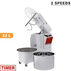 22 literes dagasztógép, 18 kg tésztához, 2 sebességes, kiemelhető dagasztócsészével
