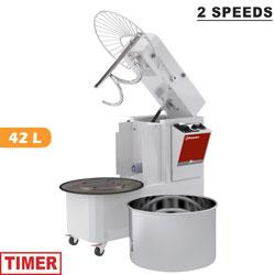 42 literes dagasztógép, 38 kg tésztához, 2 sebességes, kiemelhető dagasztócsészével