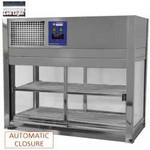 asztali hűtővitrin, 2 szintes, tolóajtós, +4/+8°C