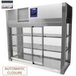 asztali hűtővitrin, 3 szintes, tolóajtós, +4/+8°C
