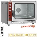elektromos légkeveréses cukrászati sütő, 5 tálcás, automatikus párásítással