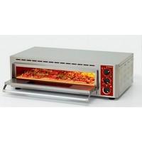 elektromos 1 aknás pizzasütő, 600x400 mm-es tálca vagy 2 db Ø330 mm-es pizza kapacitással
