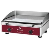 asztali elektromos sütőlap, 600x400 mm-es krómozott acél lappal