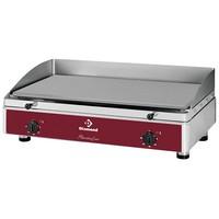 asztali elektromos sütőlap, 800x400 mm-es polírozott acél lappal