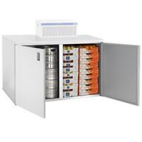 1400 literes mobil hűthető kamra, hűtőegység nélkül, lapraszerelve