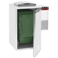 hűtött hulladéktároló hűtőegységgel, 1 konténerhez