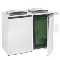 hűthető hulladéktároló hűtőegység nélkül, 2 konténerhez