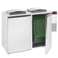 hűtött hulladéktároló hűtőegységgel, 2 konténerhez