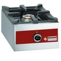asztali 1 égős gáztűzhely, 450*360 mm-es edénytartó ráccsal