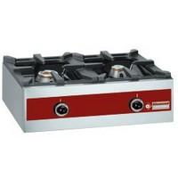 asztali 2 égős gáztűzhely, 2*450x360 mm-es edénytartó ráccsal