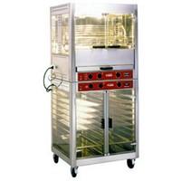 elektromos forgónyársas csirkesütő, 5 nyárson 25 csirke kapacitással