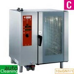 elektromos gőzpároló, 10x GN 1/1 tálcás, direkt gőzbefecskendezéssel