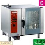 gázos gőzpároló, 6x GN 1/1 tálcás, direkt gőzbefecskendezéssel