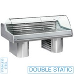 3000 mm-es hűtőpult, statikus, íves frontüveggel