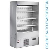 1500 mm-es hűtött fali regál, csökkentett mélységgel, ventilációs