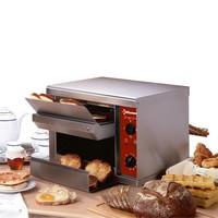 szalagos kenyérpirító, 300-540 szelet/óra kapacitással