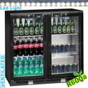 191 literes bárbelső, ventilációs, 2 nyíló üveg ajtóval, fekete