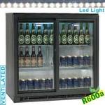 196 literes pult alá építhető italhűtő, üveg tolóajtókkal
