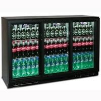380 literes pult alá építhető italhűtő, üveg tolóajtókkal