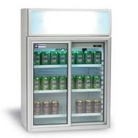 100 literes hűtő, üveg tolóajtókkal, felső világító display-jel, +2/+10°C