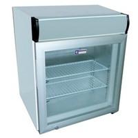 50 literes mélyhűtő, üveg ajtóval, felső világító display-jel, -12/-24°C