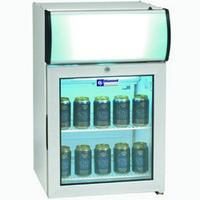 60 literes hűtő, üveg ajtóval, felső világító display-jel, +2/+10°C