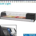 asztali tapas hűtő, 6x GN 1/3 - 40 mm kapacitással