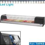 asztali tapas hűtő, 8x GN 1/3 - 40 mm kapacitással