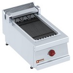 asztali elektromos grillsütő, 270x450 mm-es sütőfelülettel