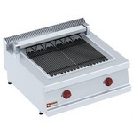 asztali elektromos grillsütő, 550x450 mm-es sütőfelülettel
