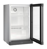 110 literes hűtő, ventilációs hűtéssel, üveg ajtóval