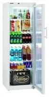 378 literes hűtő, ventilációs hűtéssel, üveg ajtóval