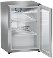 45 literes hűtő, ventilációs hűtéssel, üveg ajtóval