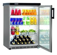 180 literes pult alá helyezhető hűtő, ventilációs hűtéssel, üveg ajtóval