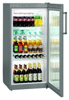 250 literes hűtő, ventilációs hűtéssel, üveg ajtóval
