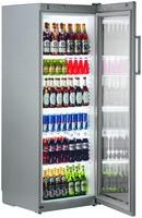 348 literes hűtő, ventilációs hűtéssel, üveg ajtóval