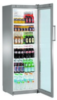 365 literes hűtő, ventilációs hűtéssel, üveg ajtóval