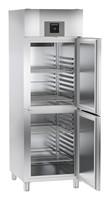 597 literes mélyhűtő, ventilációs hűtéssel, osztott teli ajtóval, egy légtérrel