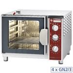 elektromos gőzpároló, 4x GN 2/3 tálcás