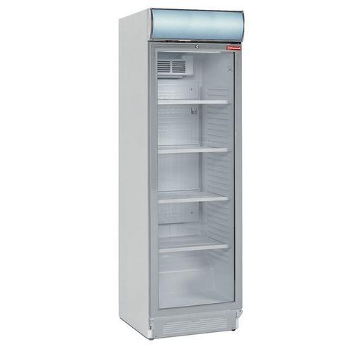 372 literes hűtő felső világító display-jel, ventilációs, üvegajtós, fehér