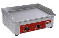 asztali elektromos sütőlap, 580x380 mm-es rozsdamentes acél lappal