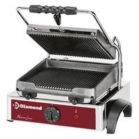 kontakt grill, alul-felül bordázott 225*255 mm-es öntöttvas sütőfelülettel