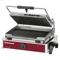 kontakt grill, alul-felül bordázott 365*255 mm-es öntöttvas sütőfelülettel
