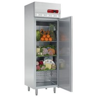 400 literes hűtő, ventilációs, teleajtós, rozsdamentes