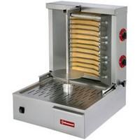 elektromos gyros sütő, 400 mm-es nyárssal, 15-20 kg kapacitással