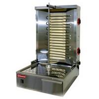 elektromos gyros sütő, 600 mm-es nyárssal, 25-35 kg kapacitással